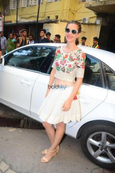 Richa Chadda And Kalki Koechlin For Jia And Jia Promotion In National College Bandra