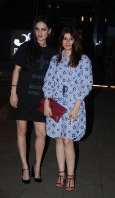 Twinkle Khanna With Anju And Karan Johar Spotted At Bandra Yauatcha