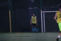 Aahan Shetty Playing Football At Juhu