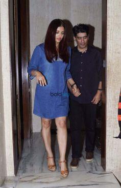 Abhishek Bachchan, Aishwarya Rai Bachchan & Karan Johar Dinner For Manish Malhotra's House