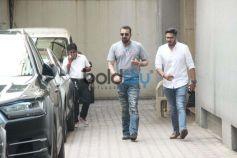 Alia Bhatt  And Sanjay Dutt At Vishesh Films