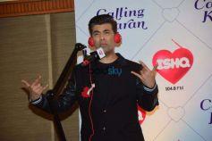 Karan Johar At Press Meet For Ishq FM