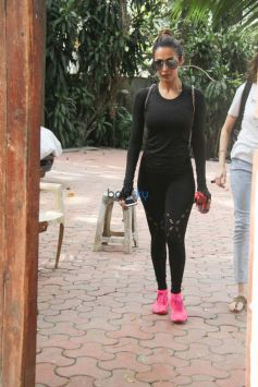 Malaika Arora Khan Spotted At Gym in Bandra