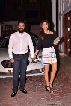 Shilpa Shetty And Raj Kundra Snapped On Their Anniversary