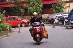 Vidya Balan And Manav Kaul Promote Tumhari Sulu On A Scooty