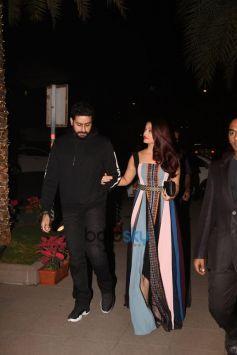Aishwarya Rai Bachchan,Abhishek Bachchan And Ranbir Kapoor Spotted At Yauatcha BKC Bandra