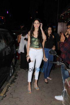 Ananya Pandey Spotted At Indigo Bandra