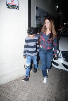 Hrithik Roshan With Family Spotted At Juhu PVR