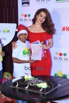 Kangana Ranaut Christmas Celebration With Smile Foundation Kids
