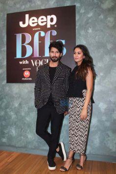 Shahid Kapoor, Neha Dhupia and Mira Rajput At Vogue BFFs