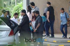 Abhishek Bachchan And Aishwarya Rai Bachchan With Daughter Aaradhya In School
