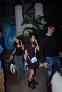 Ahan Shetty Spotted With Her Girlfriend At Olive Bandra