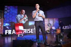 Akshay Kumar At Startup Carnival Franchise India In Partnership With Padman At IIT In New Delhi