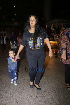 Arpita Khan Spotted At International Airport