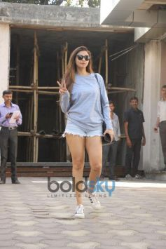 Daisy Shah Spotted At Clinic