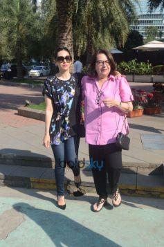 Karisma Kapoor With Family Spotted At Yauatcha BKC Bandra