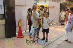 Sanjay Dutt And Amrita Arora Kids Spotted At Juhu