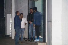 Sanjay Dutt, Sara Ali Khan And Arjun Kapoor Spotted At Ashutosh Gowariker Office Bandra