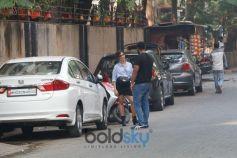 Sanya Malhotra spotted At Bandra