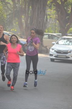 Shraddha Kapoor Spotted Jogging On The Streets In Mumbai