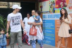 Taimur Ali Khan Spotted At Play School Bandra