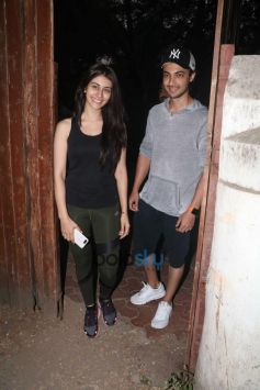 Aayush Sharma With His Upcoming Movie Co-Star Spotted At Dance Class In Bandra