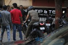 John Abraham Spotted With Bike At Bandra