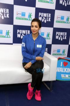 Malaika Arora, Ayushman Khurana And Sanya Malhotra At Max Bupa Walk For Health Marathon In New Delhi
