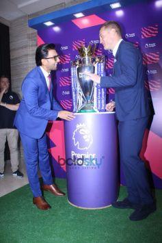 Ranveer Singh With Football Premier League