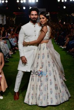 Shahid Kapoor And Mira Rajput Walk The Ramp For Anita Dongre At Lakme Fashion Week 2018