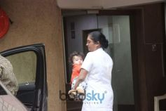 Taimur Ali Khan Spotted At Bandra