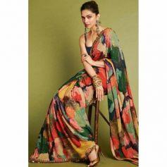 Deepika Padukone Gorgeous Saree Look