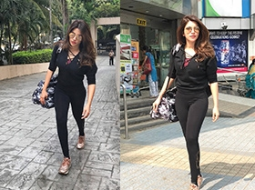 Shama Sikander Spotted At Gym