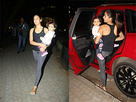 Mira Rajput With Misha Spotted At Khar