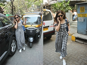 Yami Gautam Spotted At Kitchen Garden Bandra