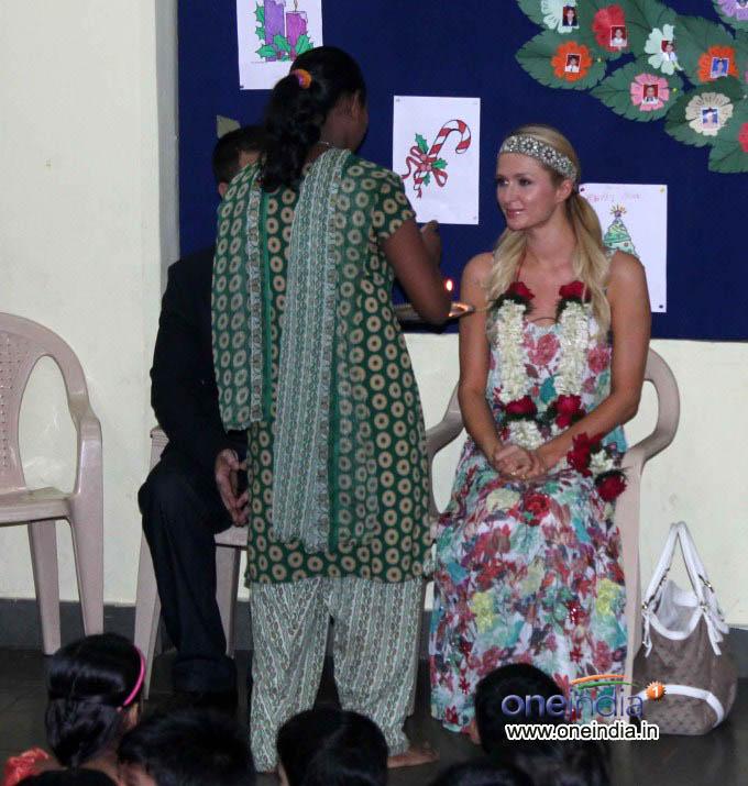 Paris Hilton Visited Ashray Orphanage in Mumbai