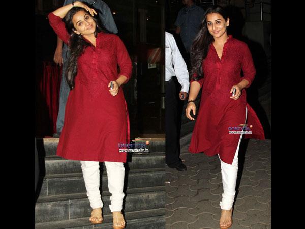 Vidya Balan In Cotton Kurti n Suit