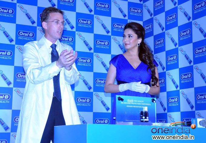Madhuri Dixit launches Oral-B Pro Health toothpaste