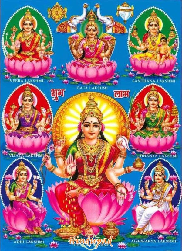 The 8 Forms Of Goddess Lakshmi