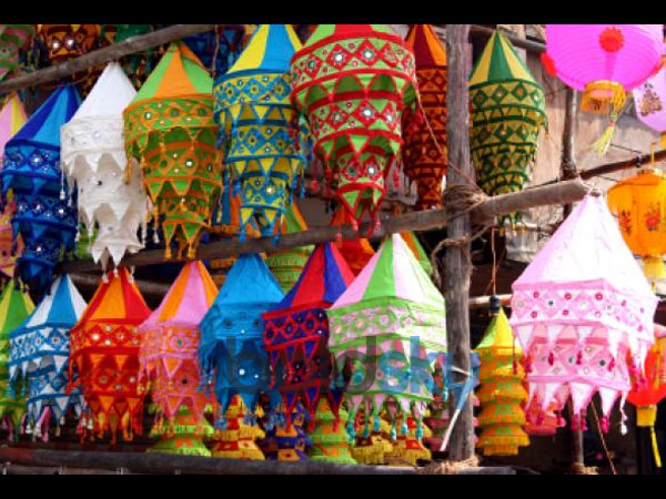 Diwali Decoration Ideas In Budget Lamp Shades Photos