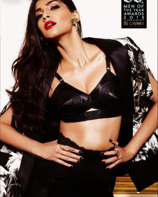 Sonam Kapoor GQ Men of the Year Oct 2013 photoshoot Photo Feature