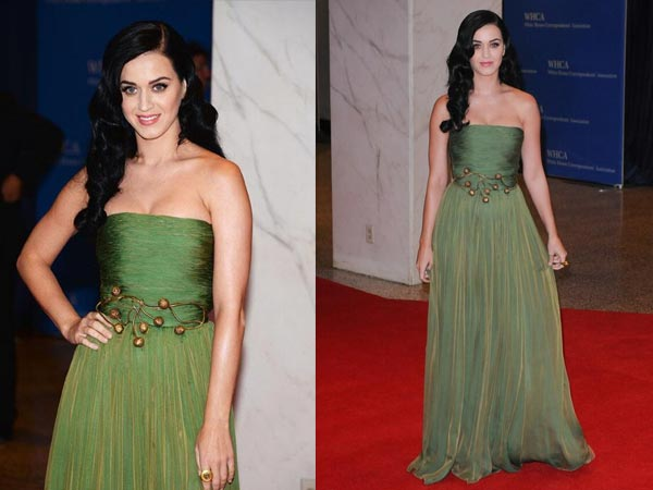 Green Dresses For Christmas Celebrity Style