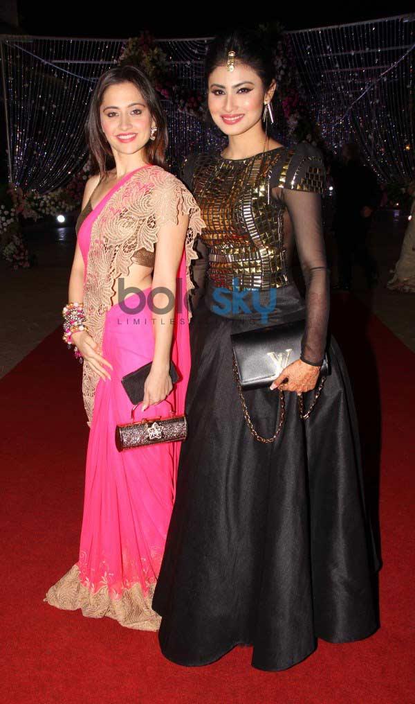 Mouni Roy at Aamna Sharif Amit Kapoor Wedding Reception ...Aamna Sharif Real Life Marriage Photos