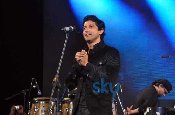 Farhan Akhtar live performance at ALEGRIA