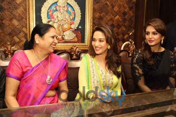 Madhuri Dixit and Huma Qureshi at Shri Raj Mahal Jewellers