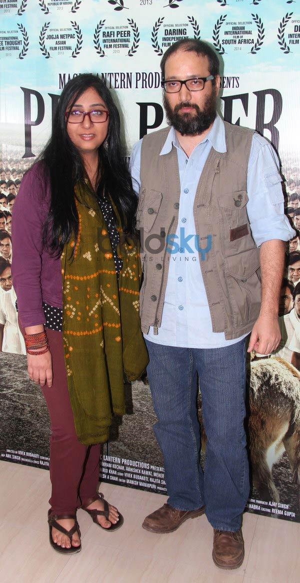 Rajpal Yadav and Vivek Budakoti at Pied Piper Promotion