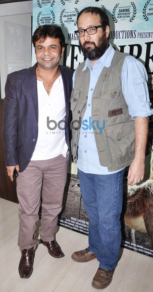 Rajpal Yadav and Vivek Budakoti at Pied Piper Promotion