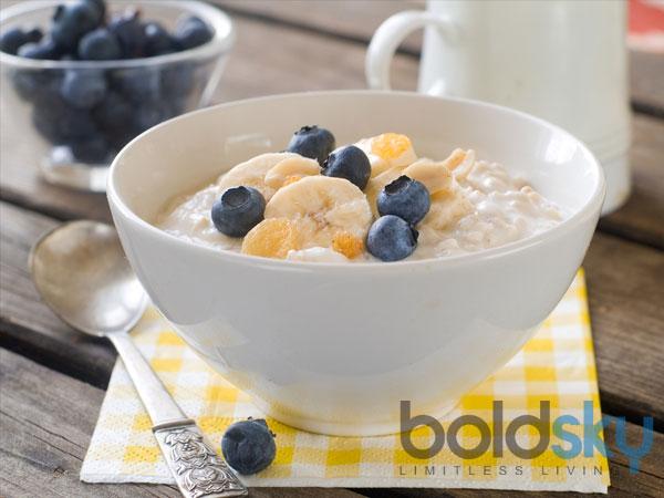 Banana and Blueberry Porridge