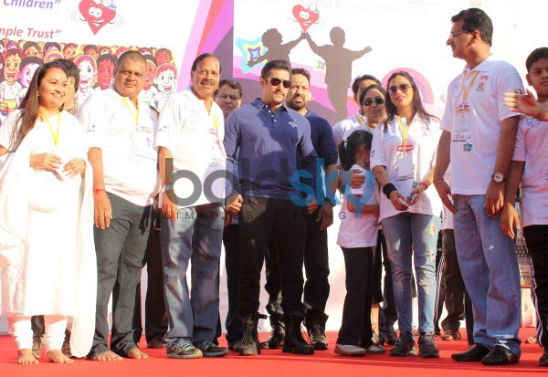Salman Khan at First edition of Little Hearts Marathon