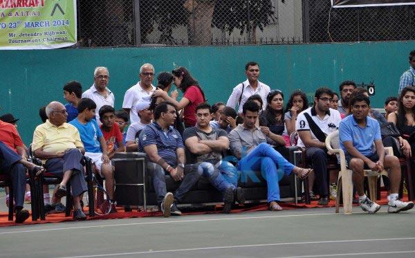 Aamir Khan attend All India Women's Open Tennis Tournament
